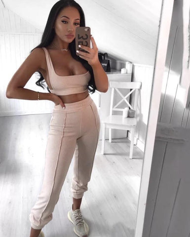 Bailey Ribbed Loungewear Set Ribbed Two Piece Set KJ STYLE BOUTiQUE