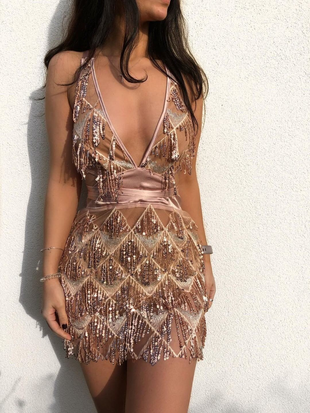 Naomi Tassel Sequin Mini Dress Dress KJ STYLE BOUTiQUE