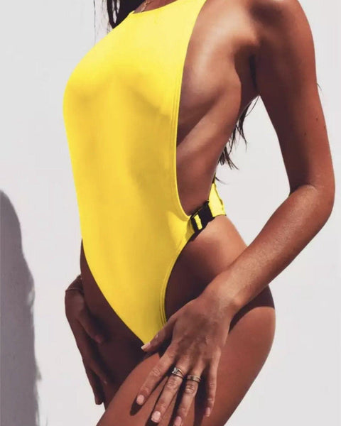 Ninela Buckle Swimsuit KJ STYLE BOUTiQUE