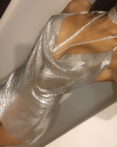 Norvina Metal Dress Dress KJ STYLE BOUTiQUE