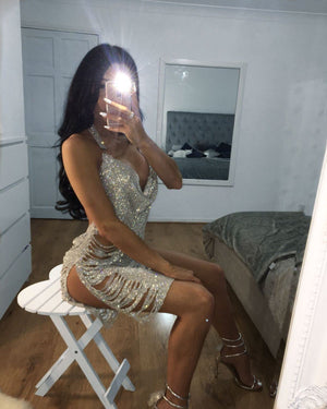 Selena Crystal Diamanté Dress Dress KJ STYLE BOUTiQUE