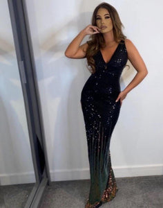 Yanira Multi Sequin Gown KJ STYLE BOUTiQUE