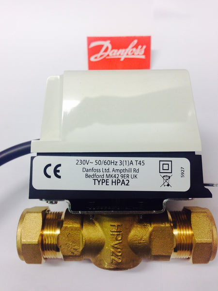 "Danfoss HPA2 3/4"" Motorized Valve"