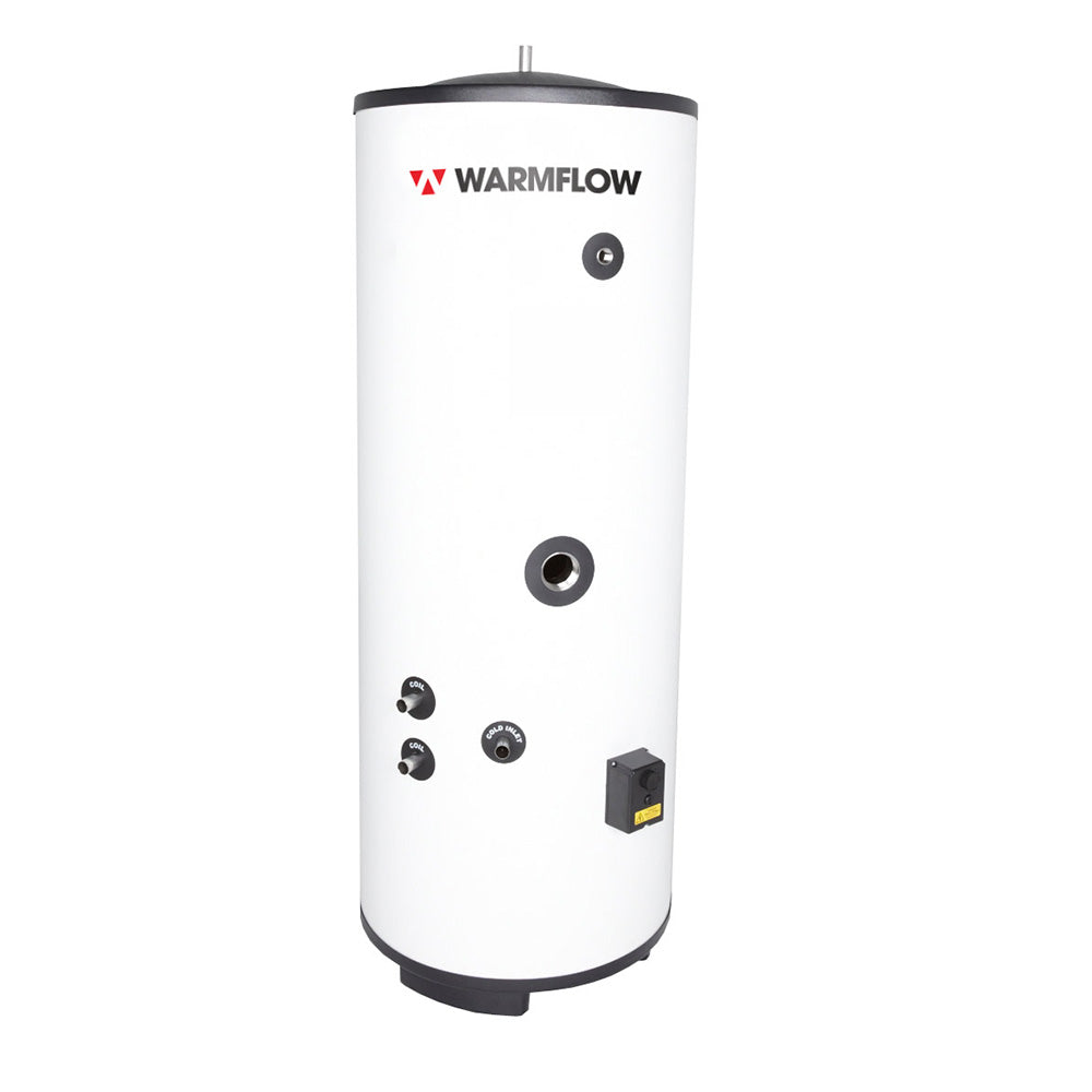 WARMFLOW 250 LITRE TWIN COIL STAINLESS CYLINDER (UNVENTED)