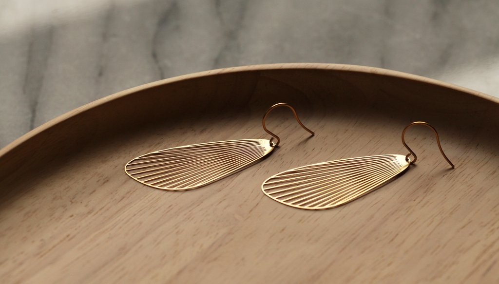 Fan Earrings L Gold