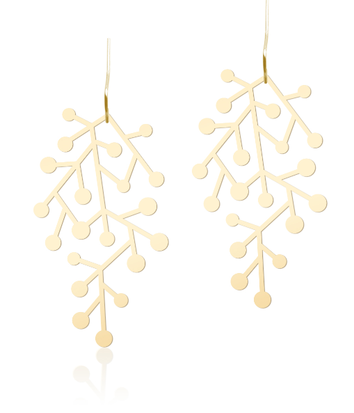 Snow Days Earrings S Gold