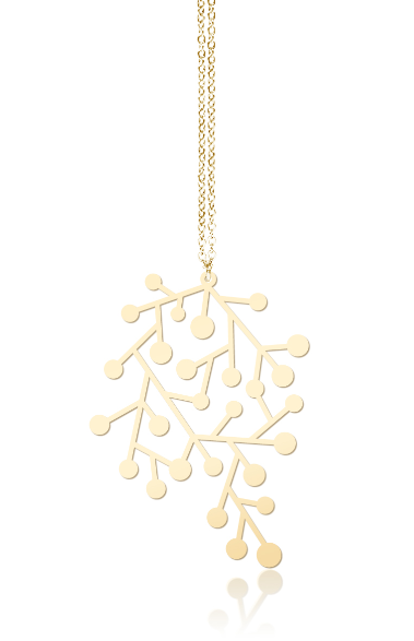 Snow Days Pendant S Gold