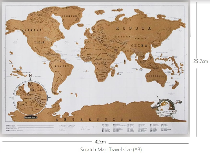 Scratch Map Vintage Travel Edition