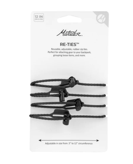 Re-Ties Reusable Zip Ties 4-Pack