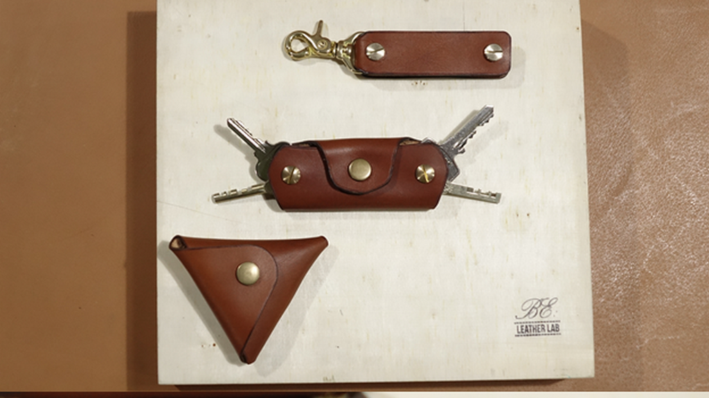 Full-grain Italian Leather Double Switch Blade Keyholder