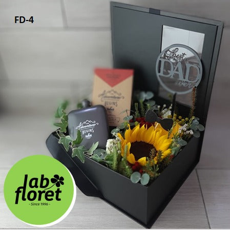 FD-4 Hip Flask in Flower Box