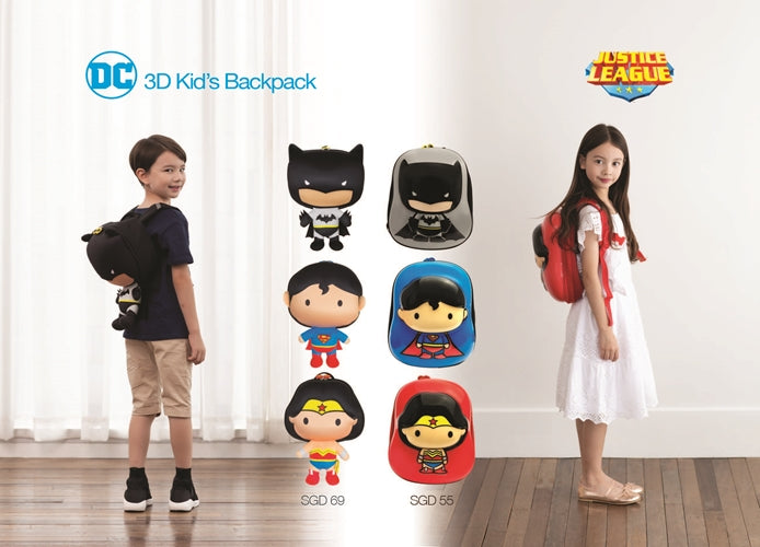 JUSTICE LEAGUE SUPERMAN KID'S BACKPACK, BLUE CAPPE EDITION