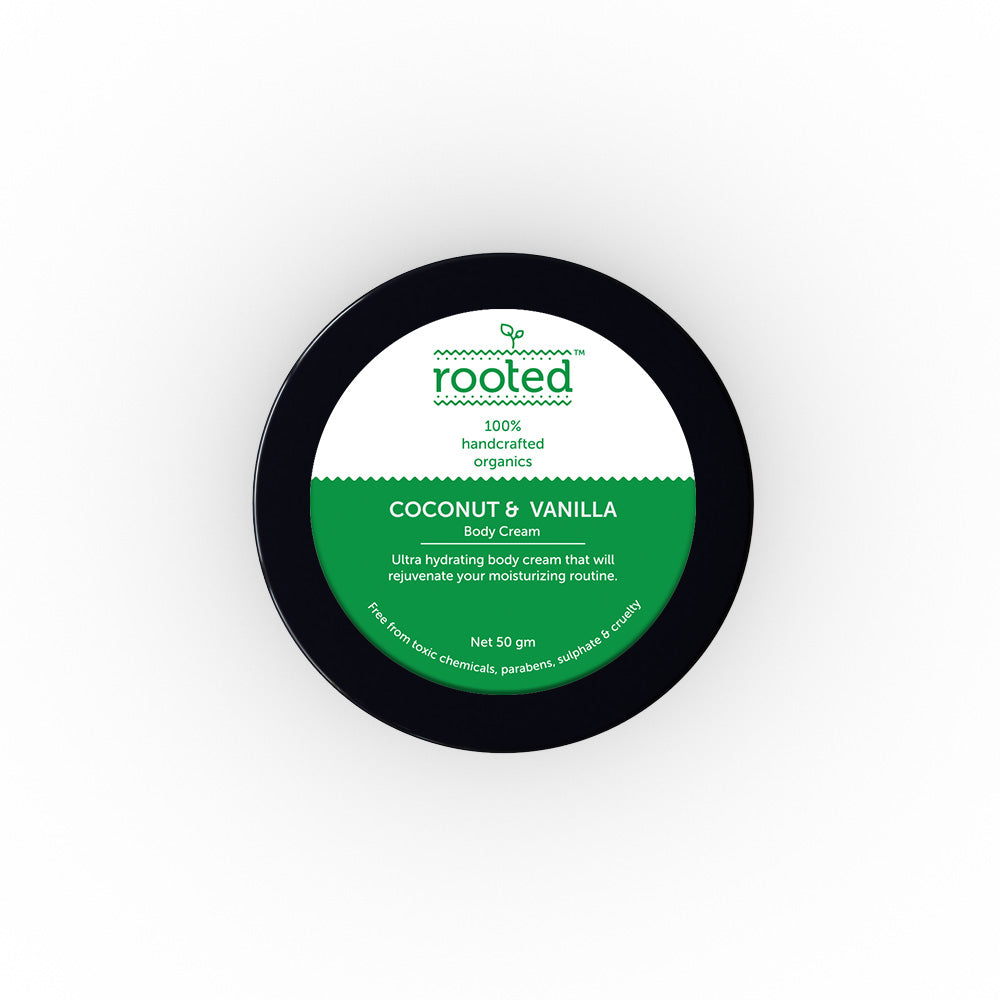 Coconut & Vanilla Body Cream - Rooted Store