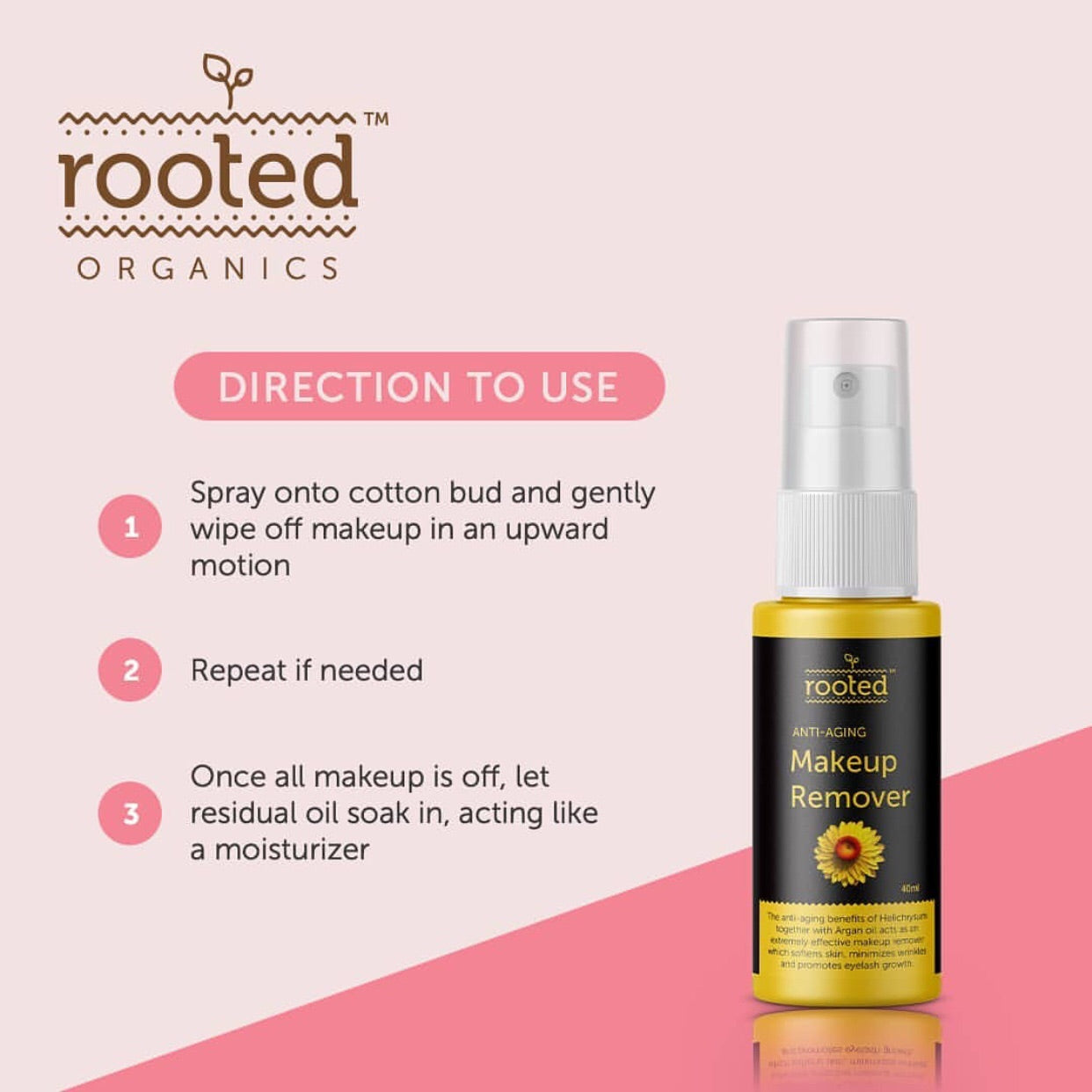 Anti-Aging Eye & Face Makeup Remover - Rooted Organics