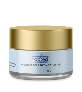 Under Eye Gel & Day Moisturiser with Aloe & Rosehip - Rooted Organics