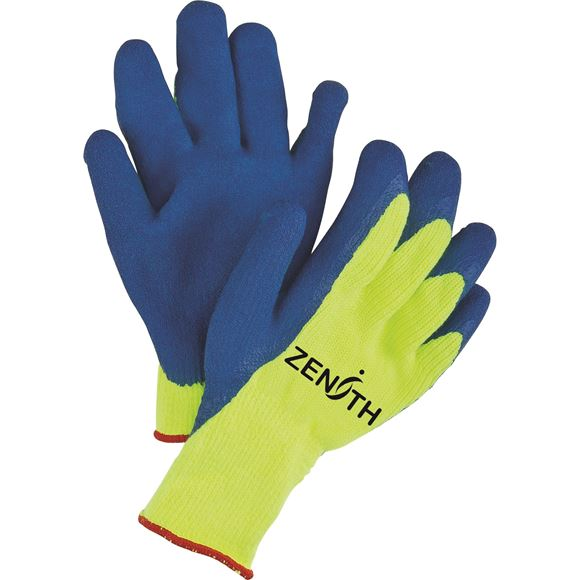 High Visibility Rubber Coated Acrylic Lined Gloves