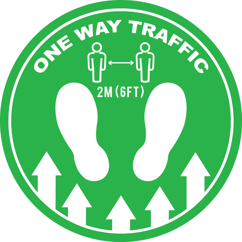 Social Distancing - One Way Traffic - Floor Sign