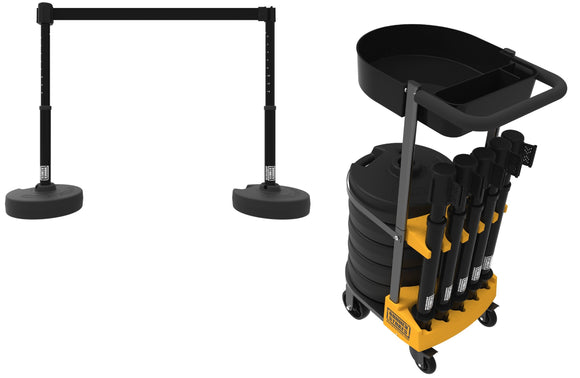 PLUS Cart Package with Tray - Black Blank Banner