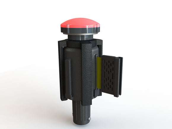PLUS Barrier System Strobe Light Bracket (includes Red Strobe light)