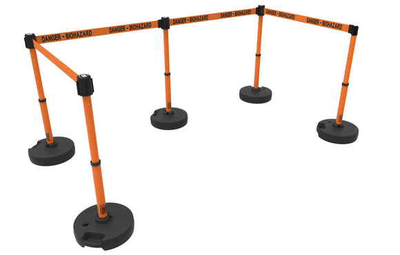 PLUS Barrier Set X5, Orange