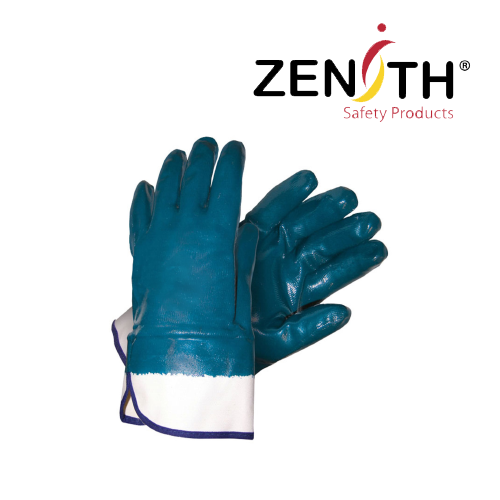Heavyweight Nitrile Coated Safety Cuff Gloves