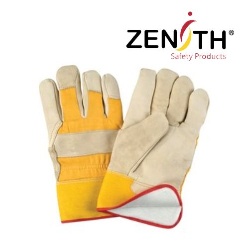 Grain Cowhide Fitters Foam Fleece-Lined Gloves