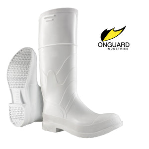 White PVC Steel Toe Boots