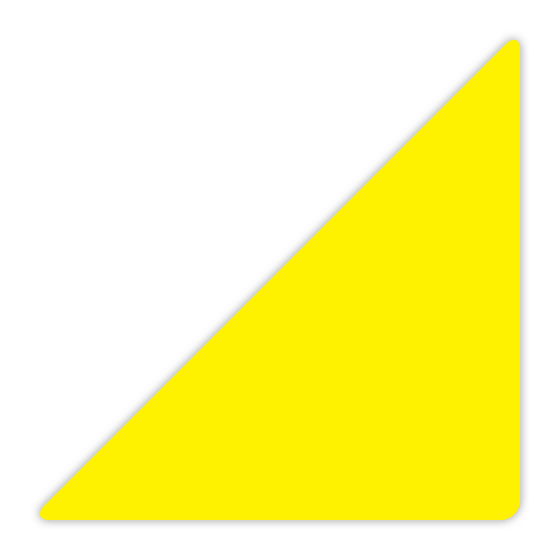 CYANVIS 5S/Lean marker. Yellow Large triangle marker