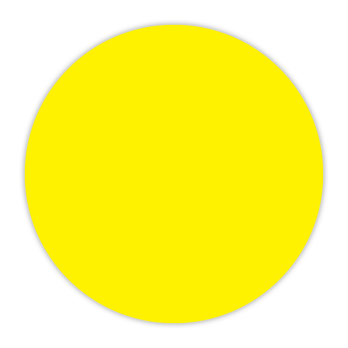 CYANVIS 5S/Lean marker. Yellow Large circle marker
