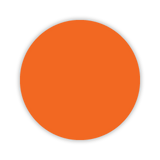 CYANVIS 5S/Lean marker. Orange Small circle diameter