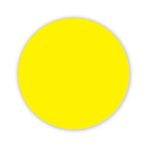 CYANVIS 5S/Lean marker. Yellow Small circle diameter