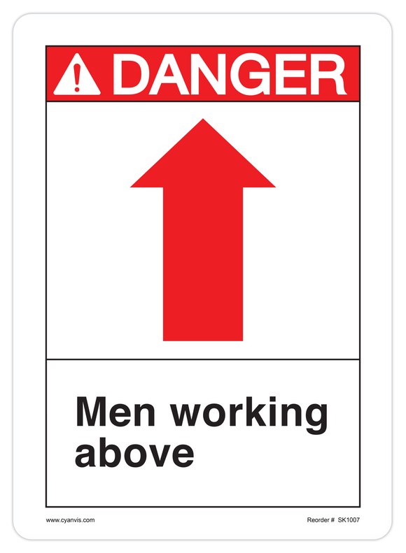 Safety signs cyanvisuals cyanvis safety sign legend ansi danger men working above sciox Gallery