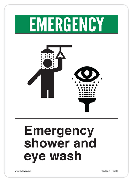 High Quality Ansi Safety First Safety Sign Cyanvisuals