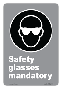 CYANVIS safety sign legend, CSA - Regulatory - SAFETY GLASSES MANDATORY