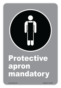 CYANVIS safety sign legend, CSA - Regulatory - PROTECTIVE APRON MANDATORY