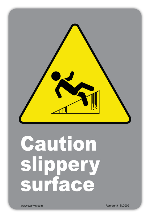 CYANVIS safety sign legend, CSA - Caution - CAUTION SLIPPER SURFACE