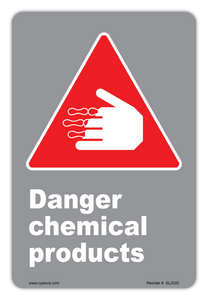 CYANVIS safety sign legend, CSA - Danger - DANGER CHEMICAL PRODUCTS
