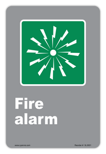 CYANVIS safety sign legend, CSA - Information - FIRE ALARM