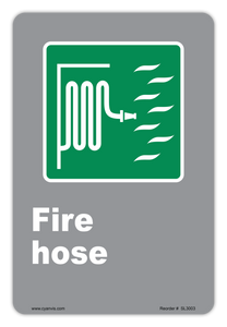CYANVIS safety sign legend, CSA - Information - FIRE HOZE