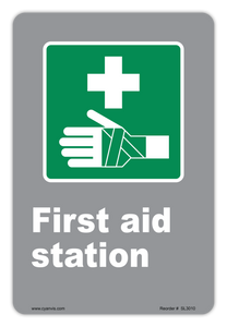 CYANVIS safety sign legend, CSA - Information - FIRST AID STATION