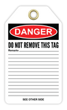 CYANVIS safety tag legend, Danger - MECHANICAL CALIBRATION REQUIRED BEFORE USE