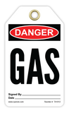 CYANVIS safety tag legend, Danger - GAS