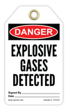 CYANVIS safety tag legend, Danger - EXPLOSIVE GASES DETECTED