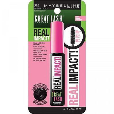 RÍMEL MAYBELLINE GREAT LASH REAL IMPACT VERY BLACK