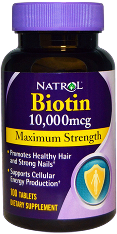 NATROL BIOTIN MAXIMUM STRENGTH 10.000MCG (100 COMPRIMIDOS)