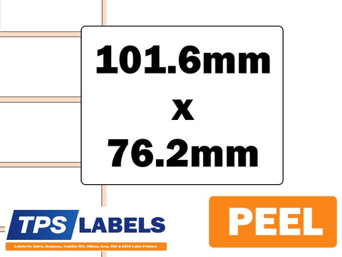 Direct Thermal Paper Labels (Removable) - 101.6mm x 76.2mm for Desktop Printers - TPS Labels