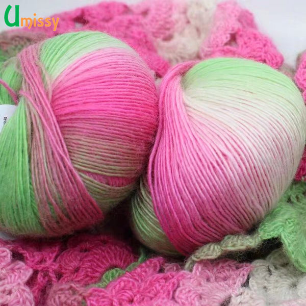 6pcs Fancy Rainbow Yarn