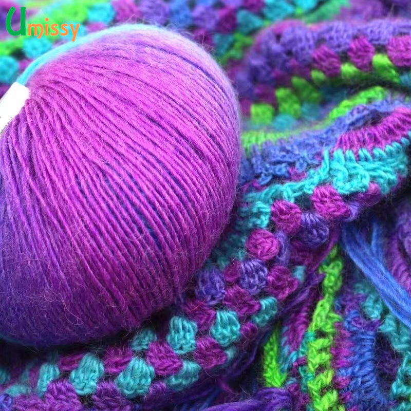 Rainbow 100% Wool Knitting Yarn