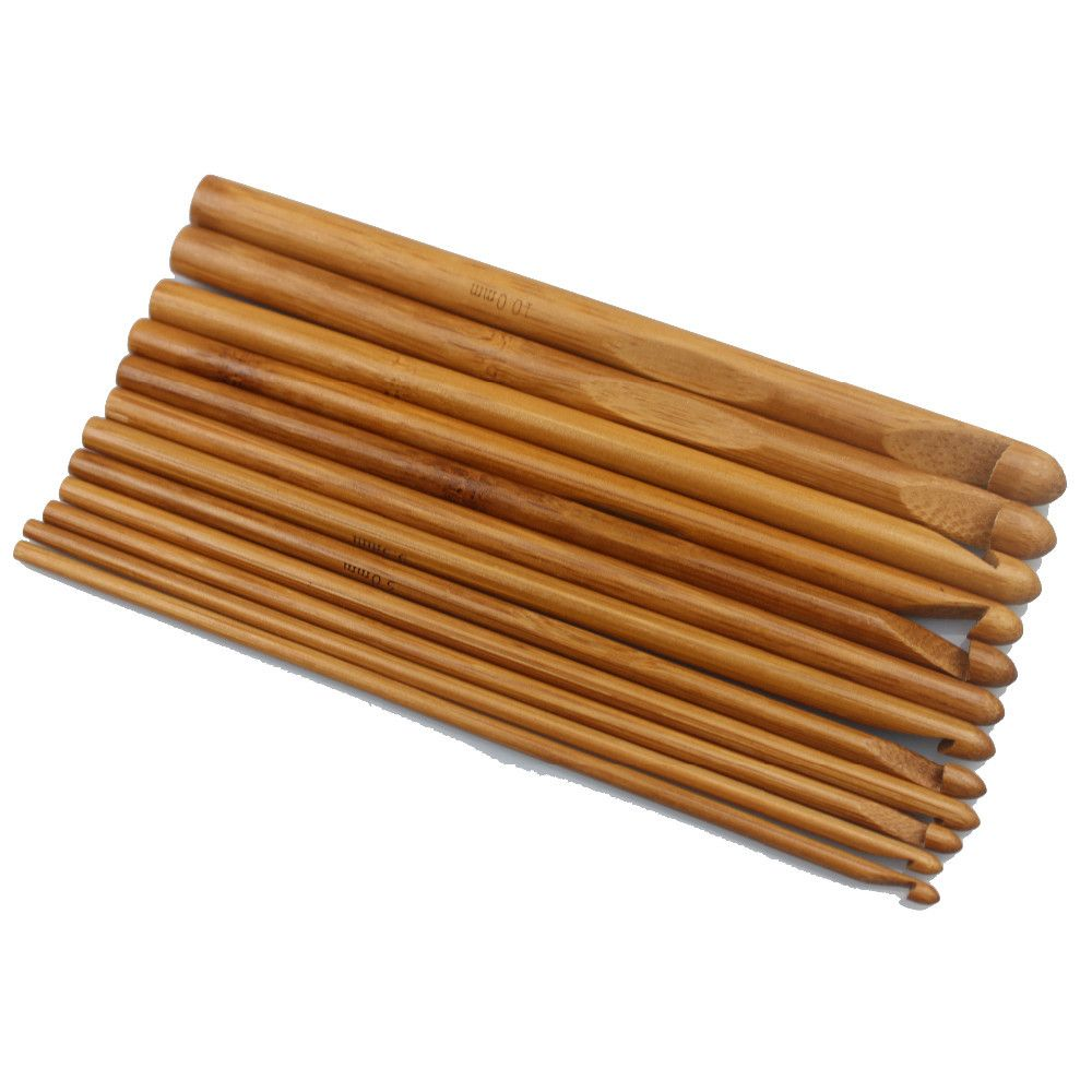 Bamboo Crochet Hooks (12pcs Set)