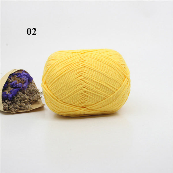 100% Cotton Yarn - Soft, Smooth, Natural Anti-Pilling